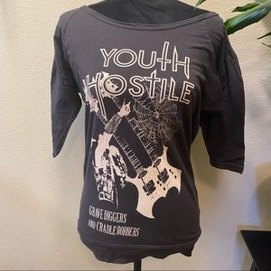 Youth Hostile Band Tee Urban Outfitters